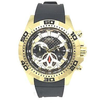 Invicta Men's Aviator Black Polyurethane Band Steel Case Quartz Analog Watch 217