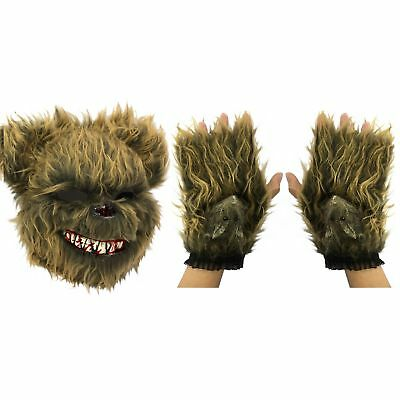 Scary Evil Zombie Ted Killer Bear Furry Bunny - Scary Bunny Maske