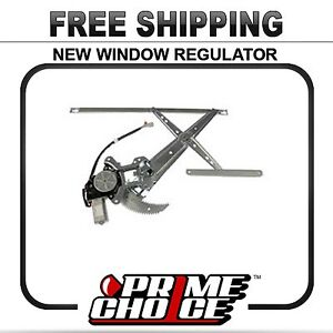 New Front Drivers Side Power Window Regulator with Motor