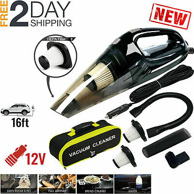 Car Vacuum Cleaner 12V Auto Mini Handheld Wet Dry Dirt Small Portable Vac, New
