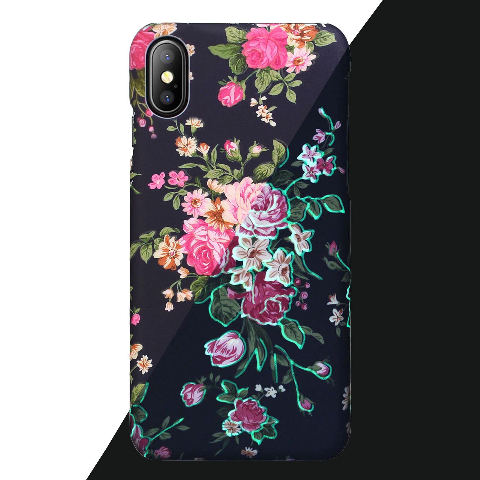 Yellow-Price Premium Retro Floral Series Rubber Case+Glass,i