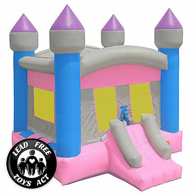 Image of Commercial Bounce House 100% PVC Inflatable Princess Castle and Blower - Girls