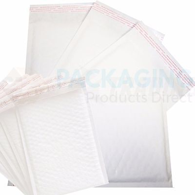 300 x WHITE Bubble Padded Bags Envelopes 205x245mm PP5