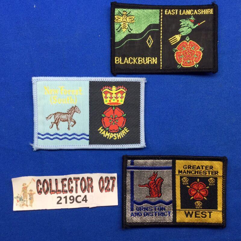 Boy Scout 3 British Double District Patches