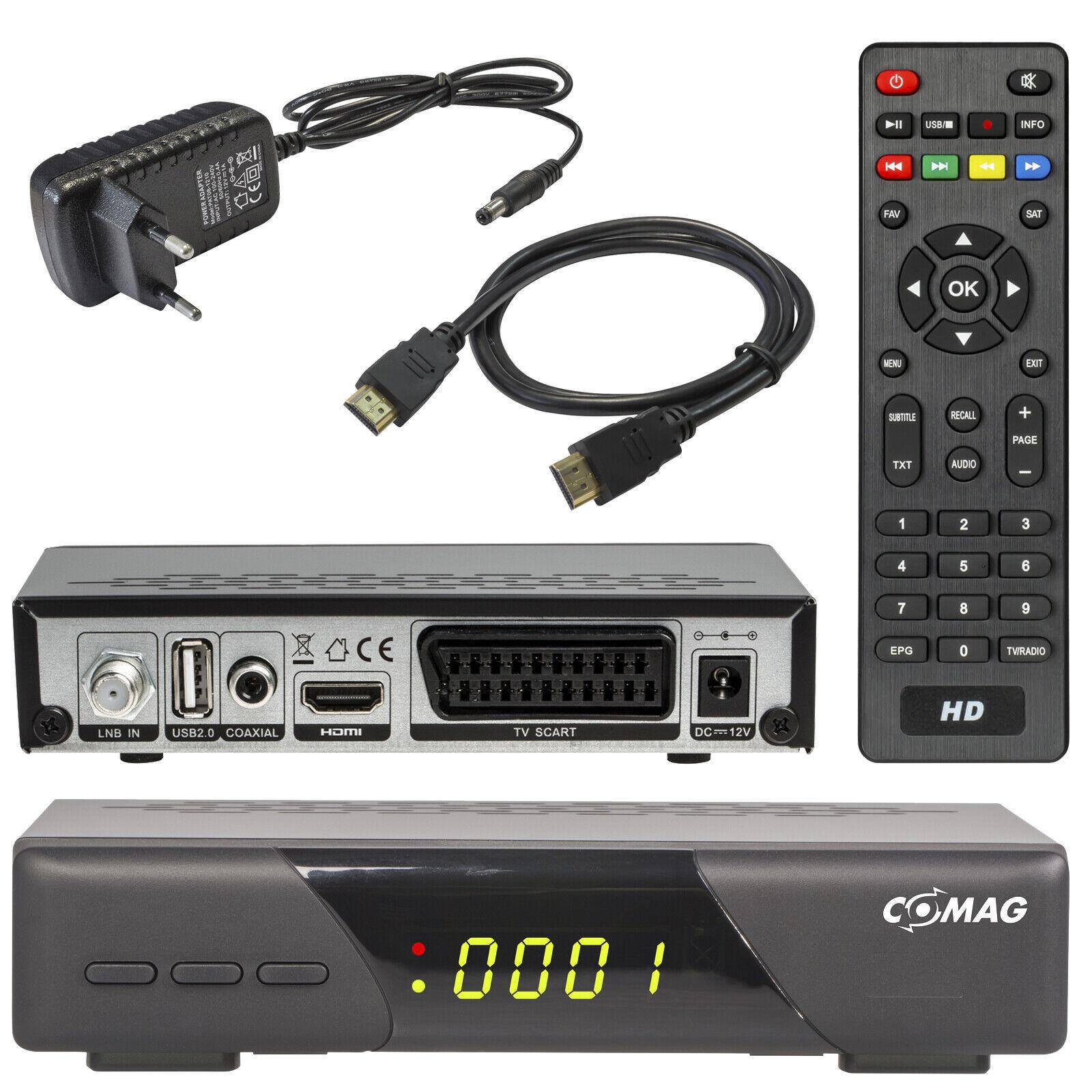 COMAG HD200 Digital HD SAT Receiver mit HDMI Scart DVB-S2 USB Mediaplayer 1080p