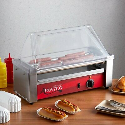 Commercial Concession Stand 12 Hot Dog Roller Grill With 5 Rollers - 120v 430w