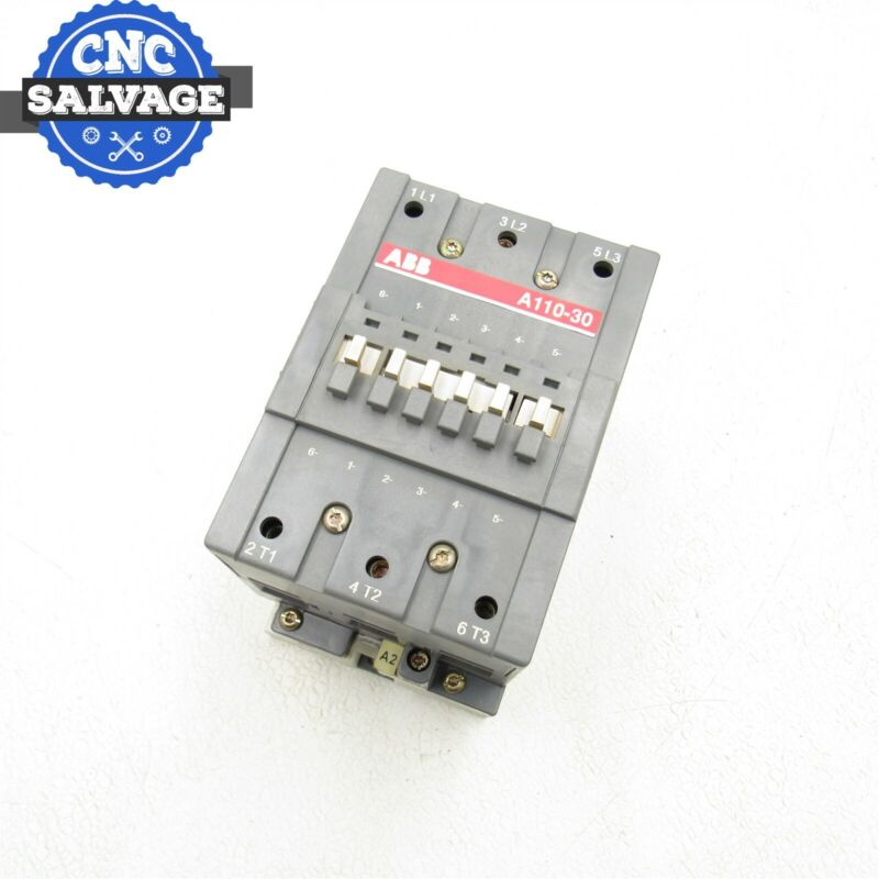 ABB 160A 3PH CONTACTOR STARTER A110-30 WITH OVERLOAD RELAY TA110 DU 120V Coil