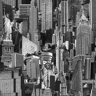 Muriva Wallpaper 102503 - New York Cityscape Black / White NEW!!!