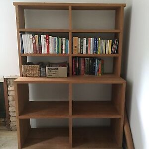 Solid pacific maple wood bookcase / storage or entertainment unit. North Narrabeen Pittwater Area Preview