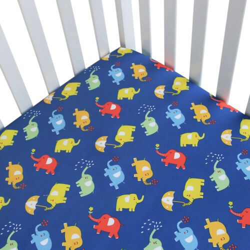 """Standard Crib Mattress Sheets for Baby Soft Breathable Fitted Crib Sheet 52""""x28"""""""
