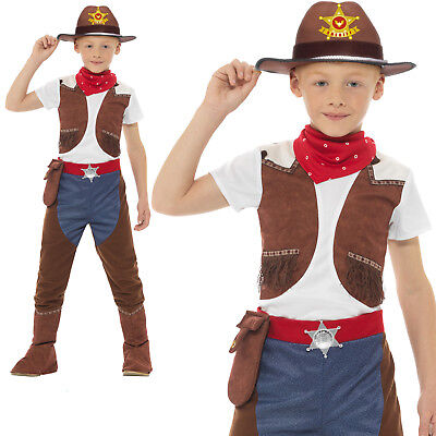 Cowboy Costume Wild West Boys Childrens Fancy Dress Outfit](Cowboy Childrens Costume)