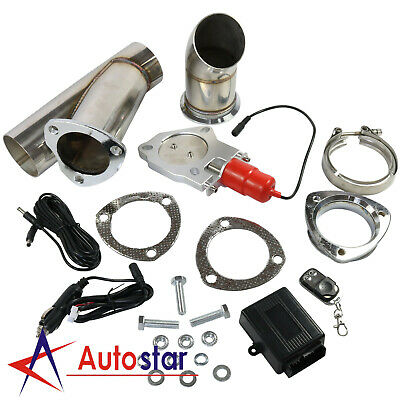 """2.5"""" 63mm Electric Exhaust Catback Downpipe Cutout E-Cut Out Valve Remote System"""
