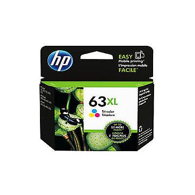 RETAIL BOX Brand New EXP 2017 / 2018 Genuine HP 63XL Color ink cartridge F6U63AN