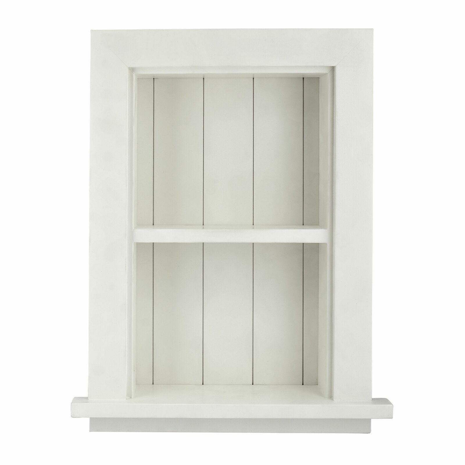 Details About Adirhome White Wood Home Decor Bathroom Recessed Storage Wall Cabinet With Shelf
