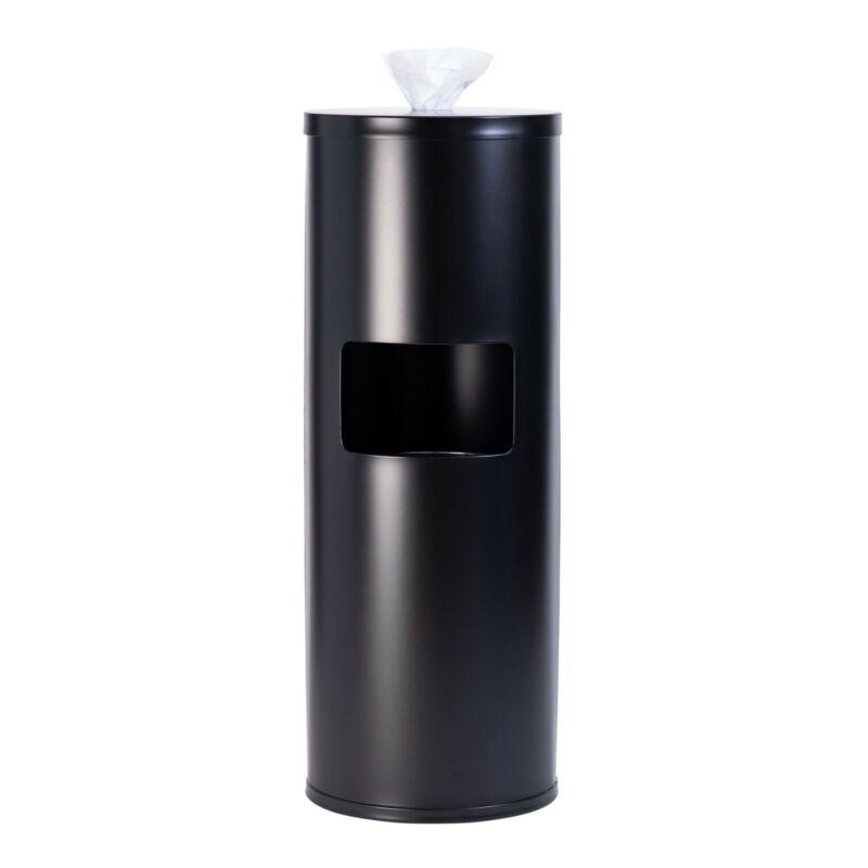 GoodEarth Black Stainless Steel Floor Stand Wipe Dispenser