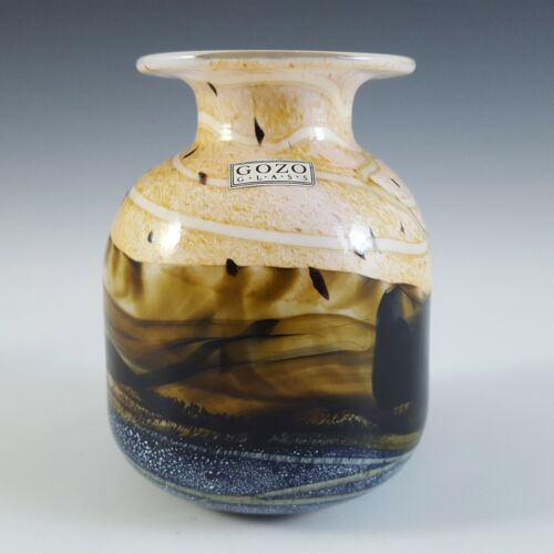 LABELLED Gozo Maltese Vintage Brown Glass