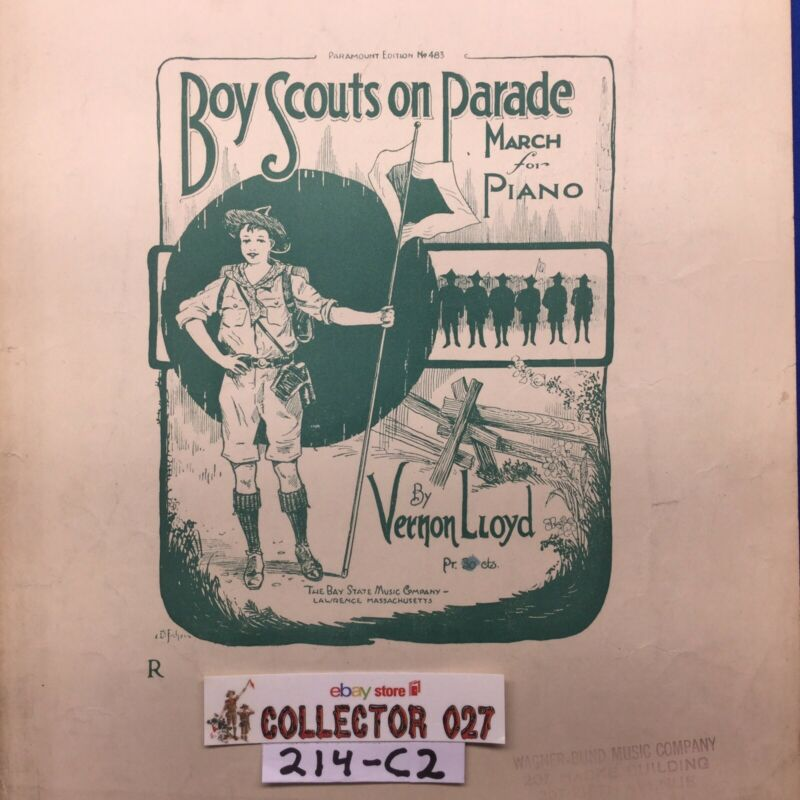 Boy Scout Sheet Music Boy Scouts on Parade March For Piano By Vernon Lloyd