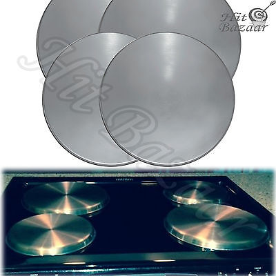 STAINLESS STEEL BURNER Covers Round Electric Kitchen Cooktop Stove Set Of 4