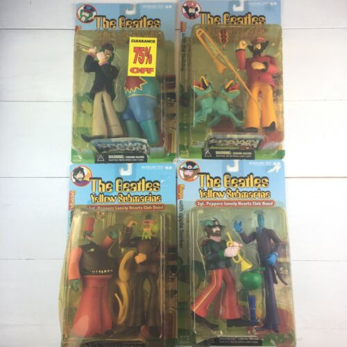 The Beatles Yellow Submarine Figures Complete Set of 4, SEALED PACKAGE