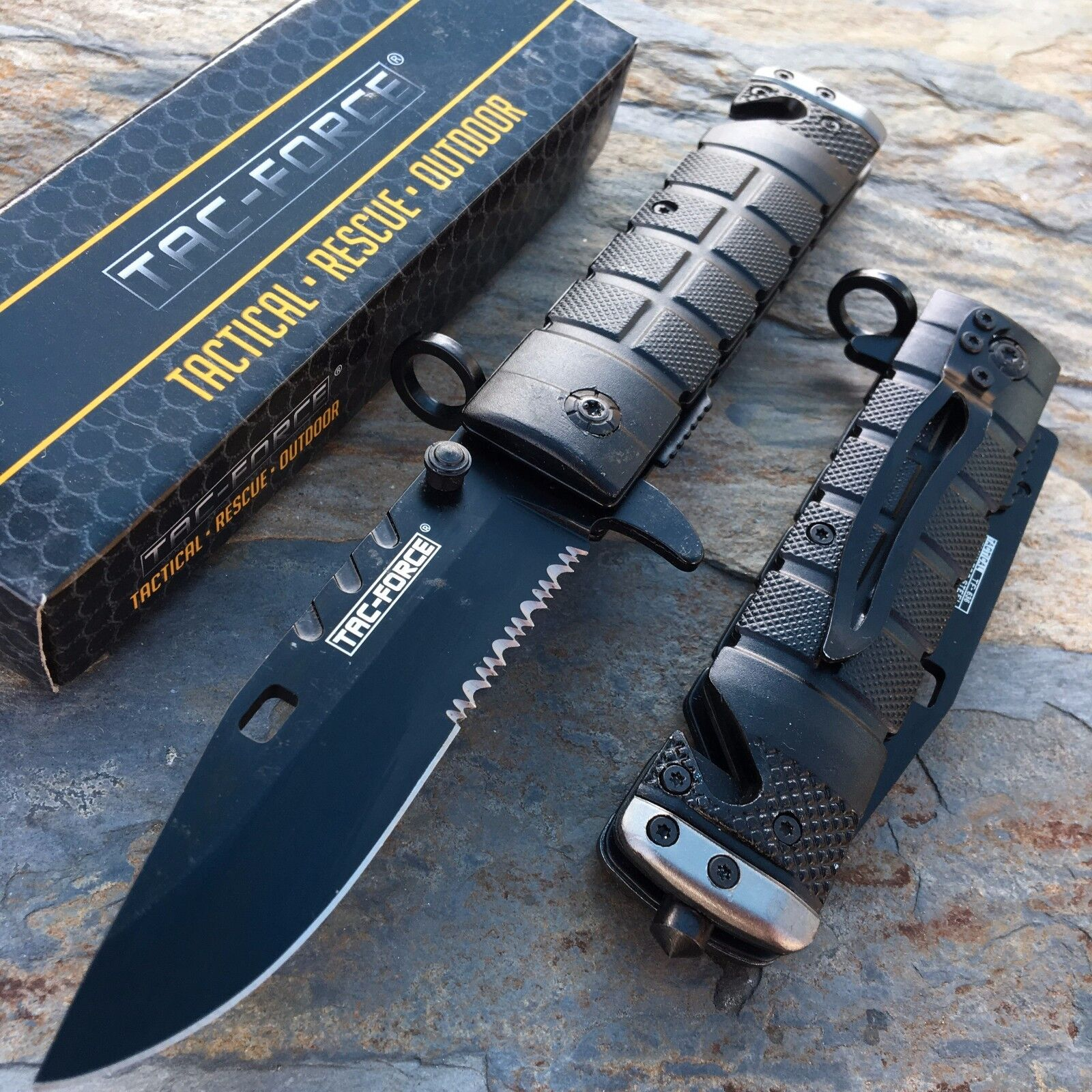 TAC FORCE Spring Assisted Open Knife Tactical Rescue