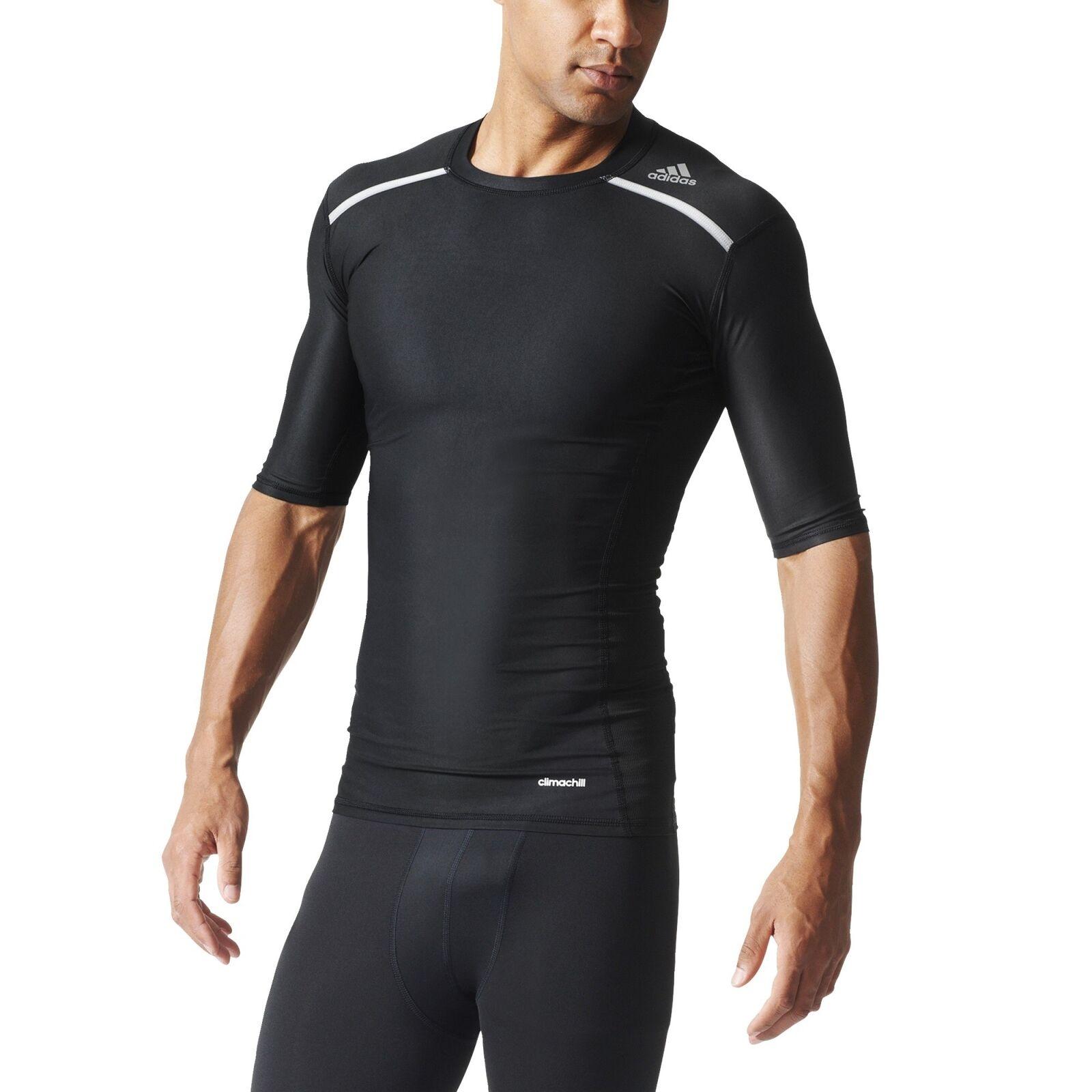 Adidas Tf Chill a compressione Maglietta sportiva running camicia funzionale