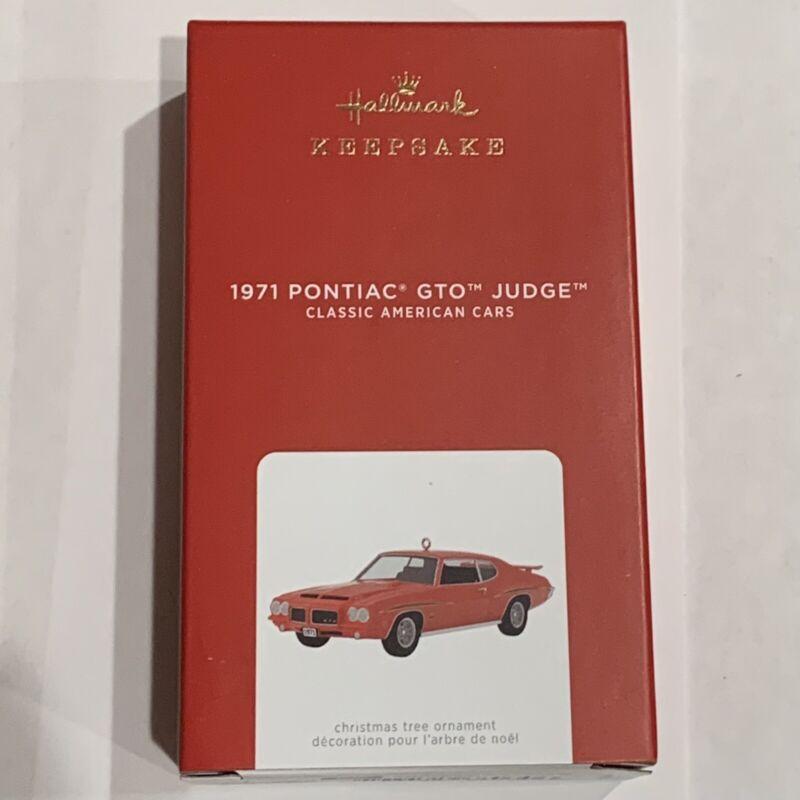 New 2021 Hallmark Ornament 1971 PONTIAC GTO JUDGE 31st IN CLASSIC CARS SERIES