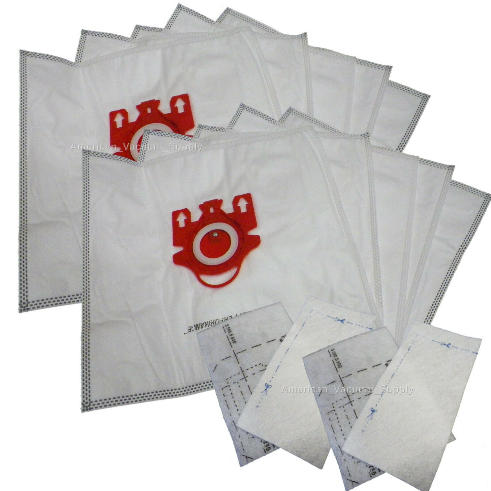 10 Bags for Miele FJM Synthetic Vacuum Cleaner Bag + 4
