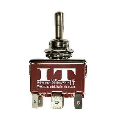 Industec Heavy Duty 10 - Amp Dpdt Momentary 3 Pos 6 14 Pc Pin Toggle Switch