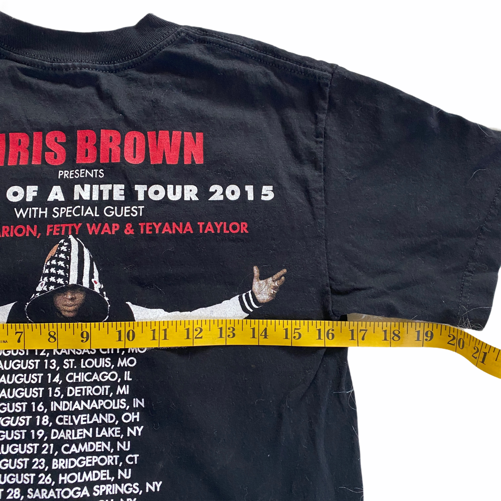 CHRIS BROWN KID INK OMARION T Shirt Small HELL OF A NIGHT TOUR 2015 Rap Hip Hop - $22.49