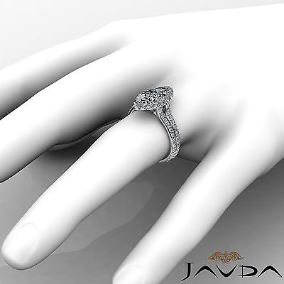Halo Pave Set Marquise Cut Diamond Engagement Anniversary Ring GIA I SI1 2.36Ct 3