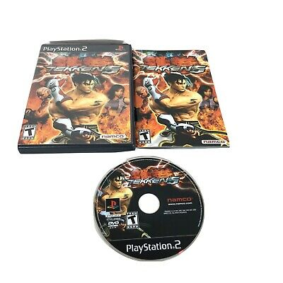 Tekken 5 ORIGINAL (Sony Playstation 2 ps2) Black Label Complete W/ Manual CIB D3