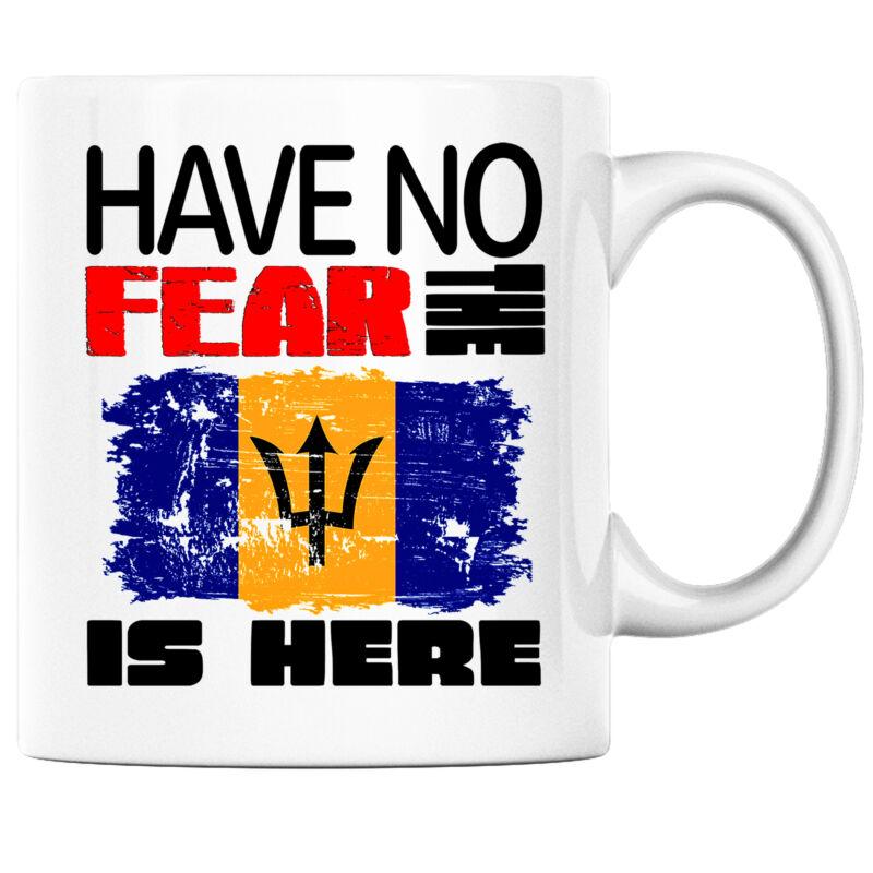 Have No Fear the Bajans is Here Funny Coffee Mug Barbados Heritage Pride