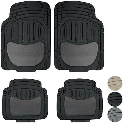 New 4pc Heavy Duty Carpeted TRUCK Rubber Floor Mats Front Back Set for Chevy/GMC Chevy Heavy Duty Truck