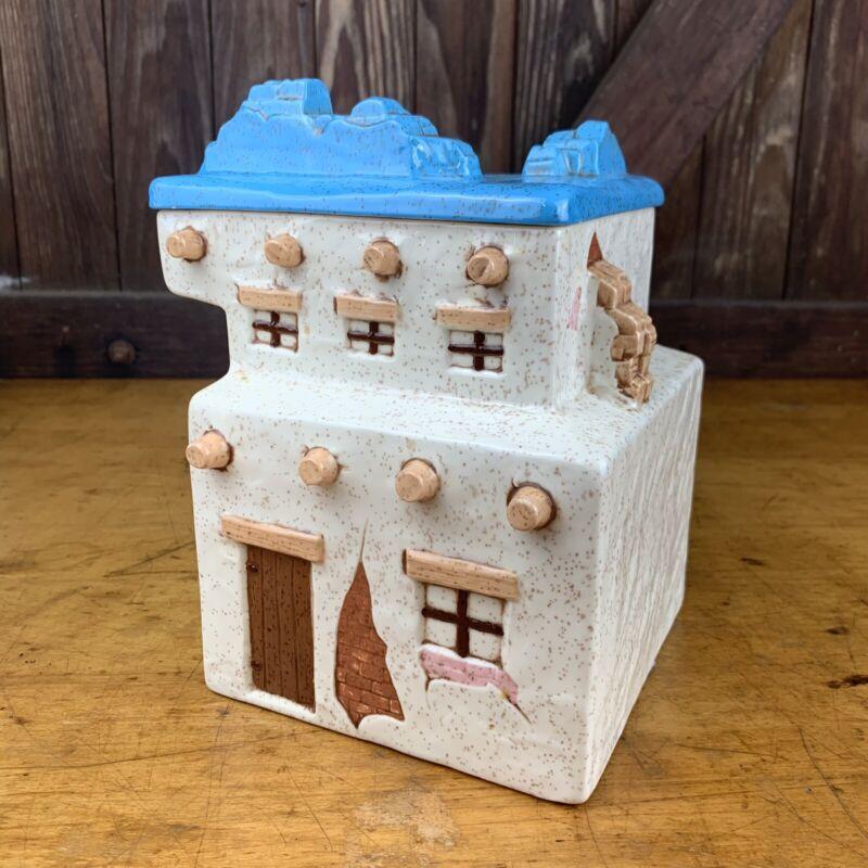 Vintage Treasure Craft Adobe Southwest House Cookie Jar Canister