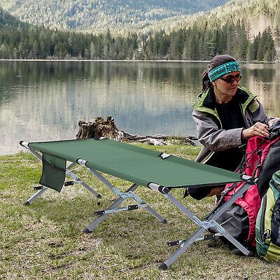 Cama Plegable para Camping Bolsa de Transporte 193x66x42cm Verde