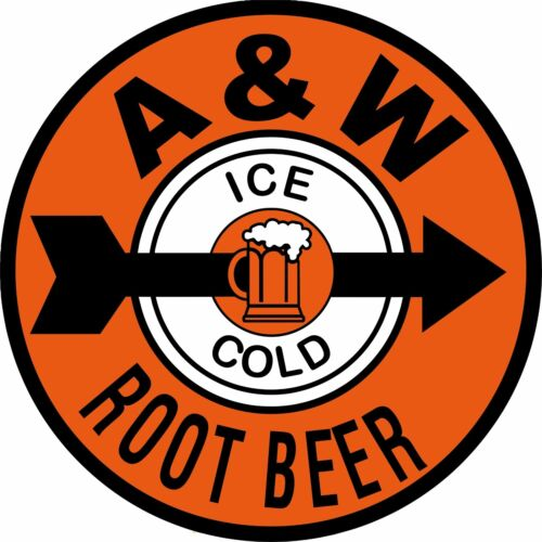 """12"""" A & W Root Beer Reproduction Ad New Aluminum Metal Sign"""