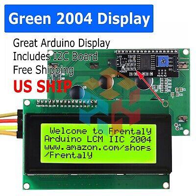 2004 204 20x4 Green Lcd Serial Character Module Display Iici2ctwi Arduino Kit