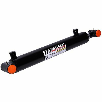 "Hydraulic Cylinder Welded Double Acting 2.5"" Bore 16"" Stroke Cross Tube 2.5x16"