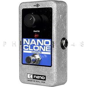 Electro-Harmonix-Nano-Clone-Analog-Chorus-Guitar-Effects-Pedal-EHX-Brand-NEW