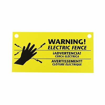 Zareba 680828 Ws3 3-pack Electric Fence Warning Signs 3 3 Signs