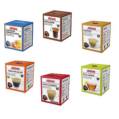 80 Cialde Capsule Ristora Compatibli Dolce Gusto a Scelta Ginseng Cioccolato Tè