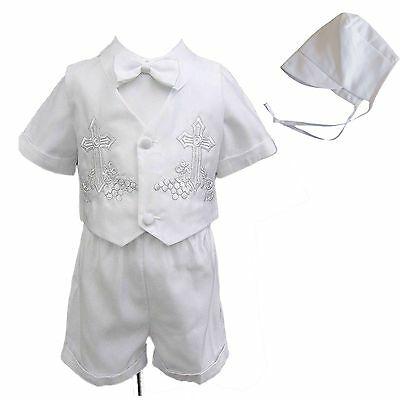 New Infant Baby Boy Christening Baptism Formal Suit Gown Outfits (New Born - 4T) (Baby Boy Baptism)