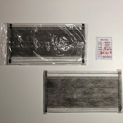 40 Stück 4 lagig Aktivkohlefilter Maske Mund Schutz grau einzeln verpackt !!!