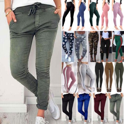 Damen Skinny Hose Leggings Treggings Freizeit Sports Leggins Jeans Winter Hosen