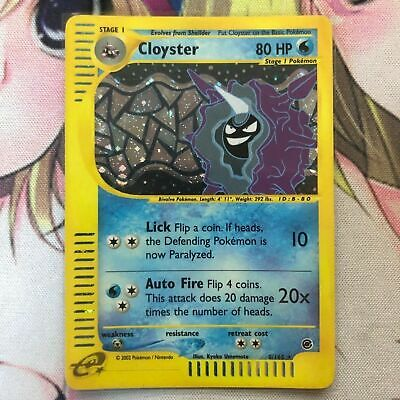 Pokemon Card Cloyster Holo Rare E Series Expedition 8/165 E Reader HTF
