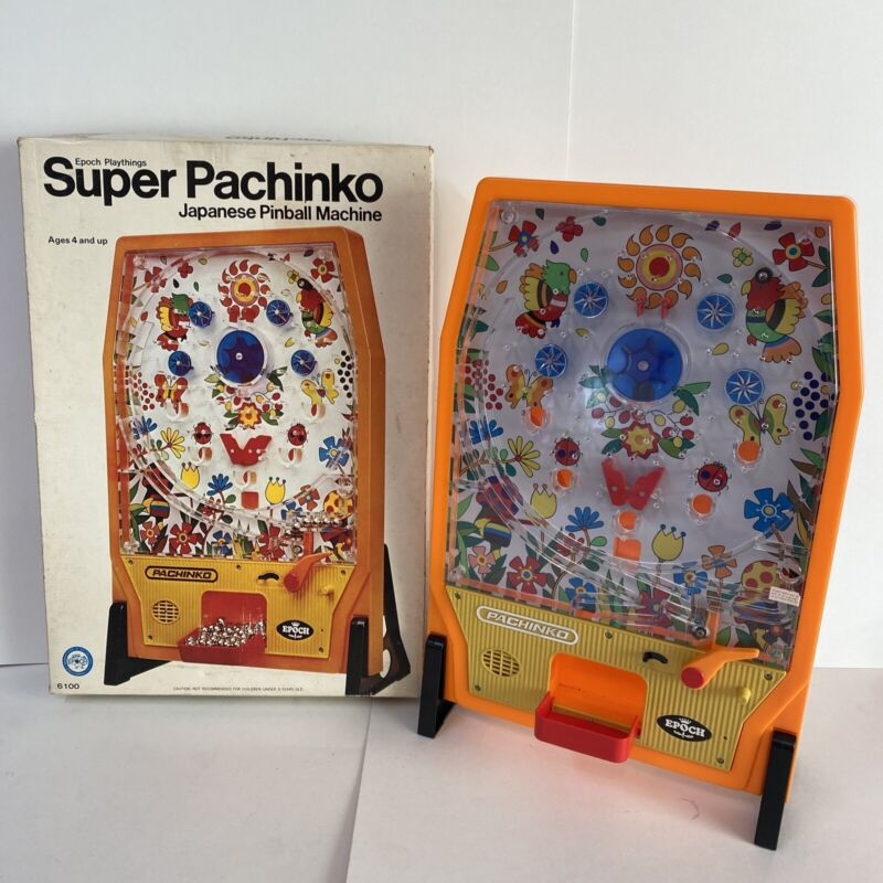 Vintage 1975 Japanese Pinball Super Pachinko Epoch Games 6100 In Orig Box NICE!
