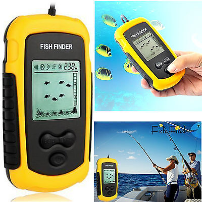portable sonar sensor fish finder alarm 100m depth capturing transducer