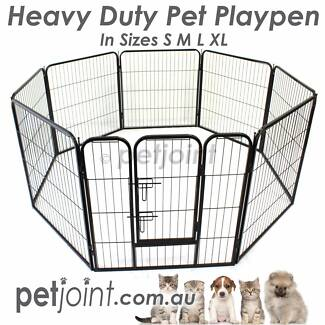 Heavy Duty Strong PlayPen Dog Puppy Pen Fence Enclosure Pet Cage