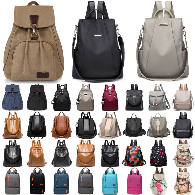 DE Damen Mädchen Rucksack Taschen Handtasche Schultertasche Schulrucksack Ranzen