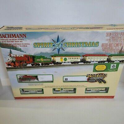 Bachmann Spirit of Christmas N Scale Train Set w/ Engines Track Power